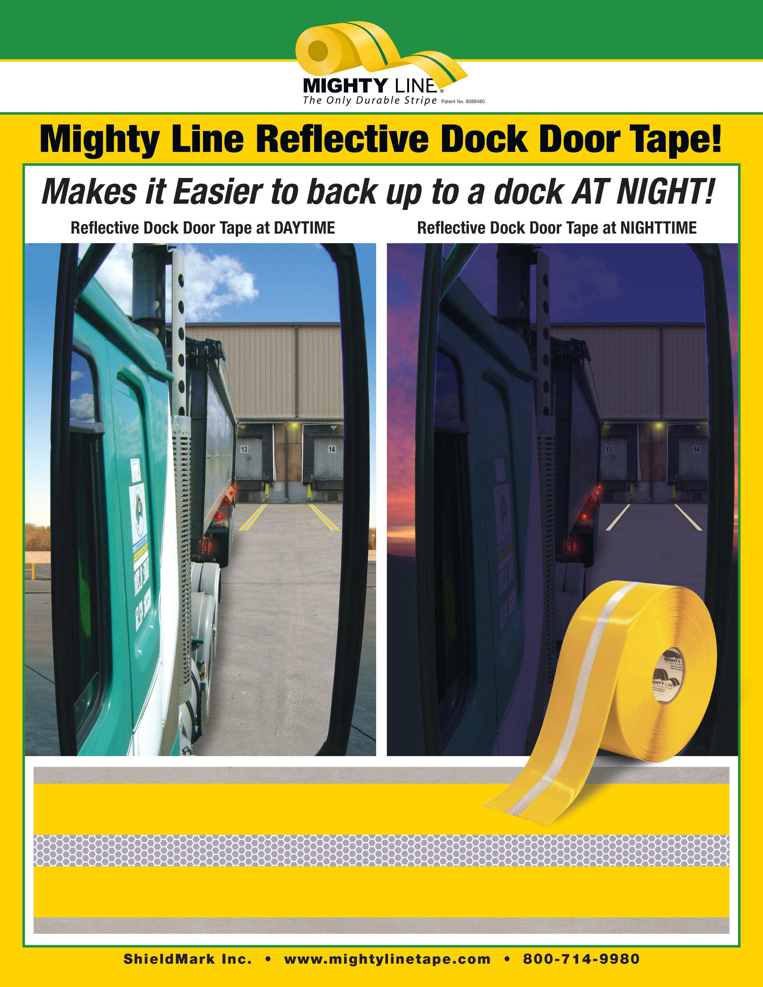 New Mighty Line Reflective Center Line Floor Tape